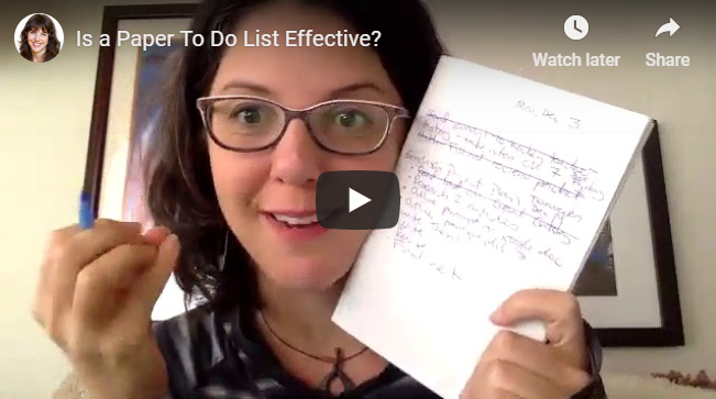 Is a Paper To Do List Effective?