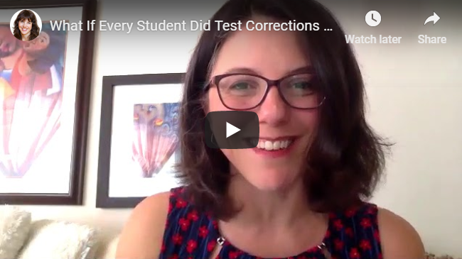What If Every Student Did Test Corrections Like This?