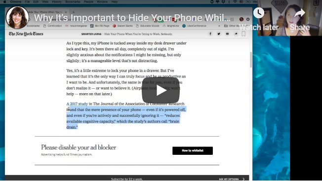Why It's Important to Hide Your Phone While Working