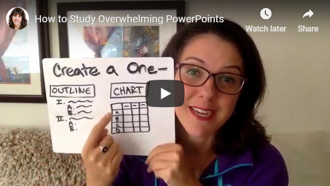 How to Study Overwhelming PowerPoints