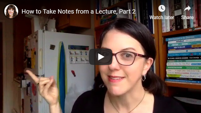 How to Take Notes from a Lecture, Part 2