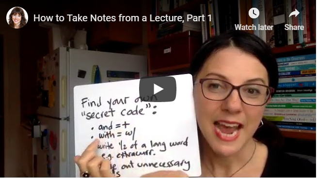 How to Take Notes from a Lecture, Part 1