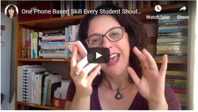 One Phone-Based Skill Every Student Should Master