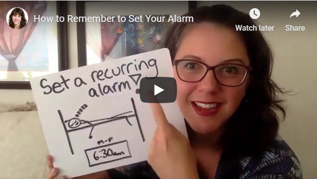 How to Remember to Set Your Alarm