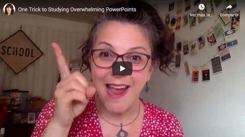 One Trick to Studying Overwhelming PowerPoints