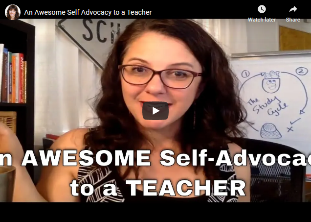 An Awesome Self Advocacy Email to a Teacher