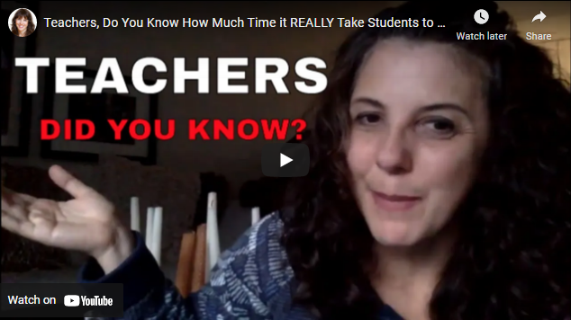 Teachers, Do You Know How Much Time it REALLY Take Students to Do Your Homework?