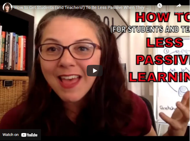 How to Get Students (and Teachers!) To Be Less Passive Learners