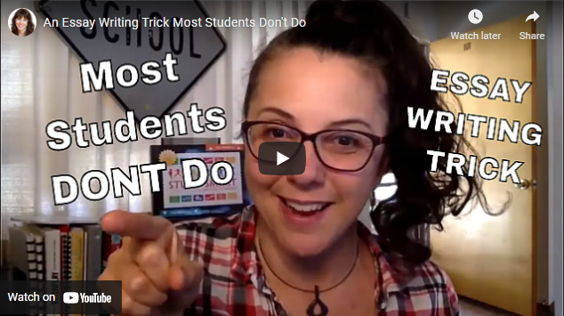 An Essay Writing Trick, Most Students, Don't Do